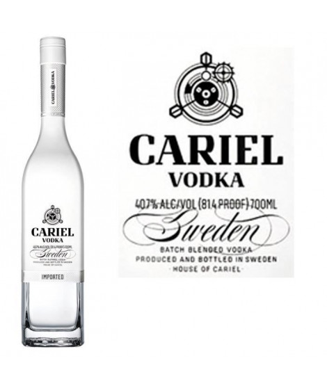 Vodka Cariel Batch blend 40.7° 70cl