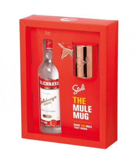 Coffret Vodka Stolichnaya - The Mule Mug - 40.0% Vol. - 70 cl