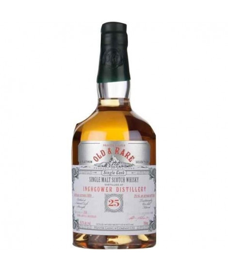 Whisky Épicé INCHGOWER 25 ans d'âge - 70 cl - 56,7 °
