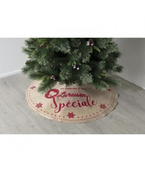FEERIC LIGHTS & CHRISTMAS Tapis de sapin en jute imprimé - D 90 cm