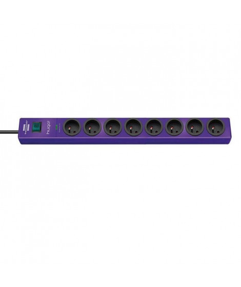 Brennenstuhl Hugo Socle Rallonge Multiprise Parasurtenseur Violet 8 Prises 2m 19500A