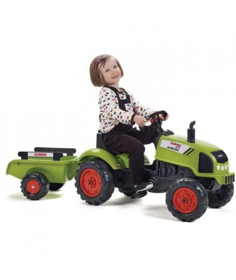 FALK Tracteur a pédales Claas avec remorque