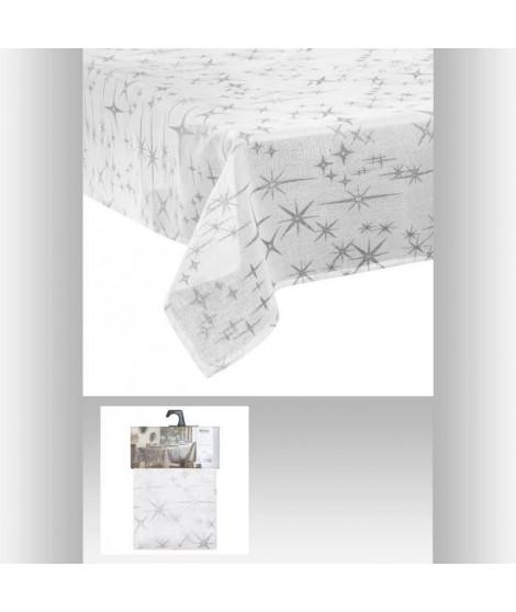 FEERIC LIGHTS & CHRISTMAS Nappe caneva etoile - 140 x 240 cm - Blanc