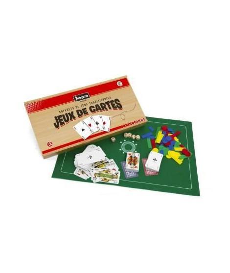 JEUJURA Coffret De Jeux De Cartes - Coffret En Bois