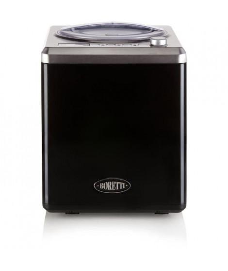 BORETTI B100 Sorbetiere automatique 2 L - 180 W - Avec compresseur - Températures -18 °C a -35 °C - Noir