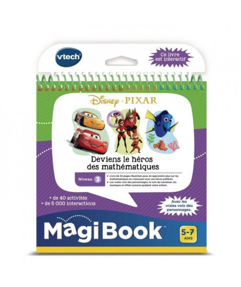 VTECH - Livre Interactif Magibook - Les Héros Pixar