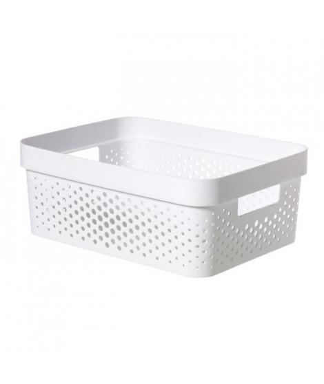 CURVER Bac Infinity 11L Dots - Plastique recyclé - Blanc