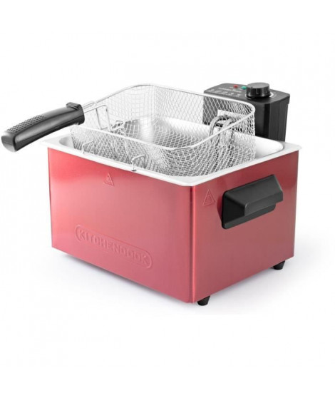 KITCHENCOOK - FR5050_INOX_RED - Friteuse - 2000W - 5L - Rouge