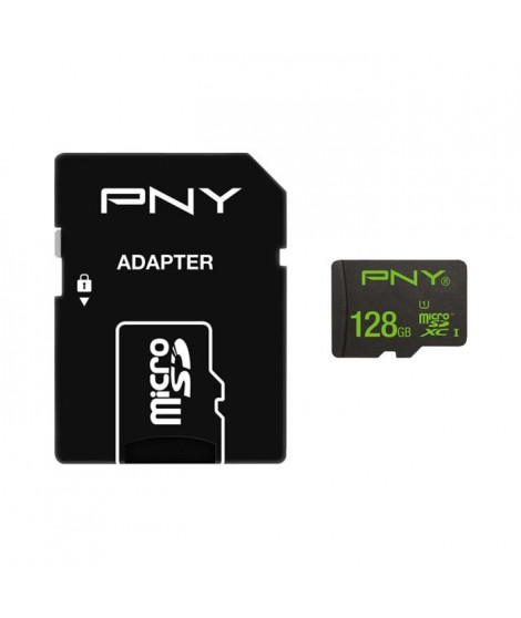 PNY Carte Micro SDXC 100 Mo Adapt 128 Go