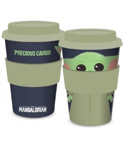 Mug de voyage Baby Yoda The Child Star Wars - Mandalorian - 400ml - Vert et noir