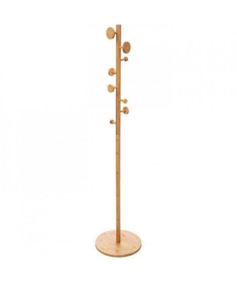FIVE Porte manteaux en bambou 8 crochets - H175cm