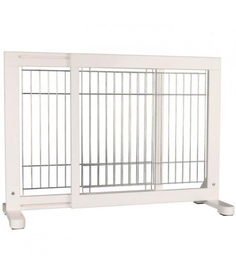 TRIXIE Barriere de sécurité - 65-108x61x31 cm - Blanc - Pour chien