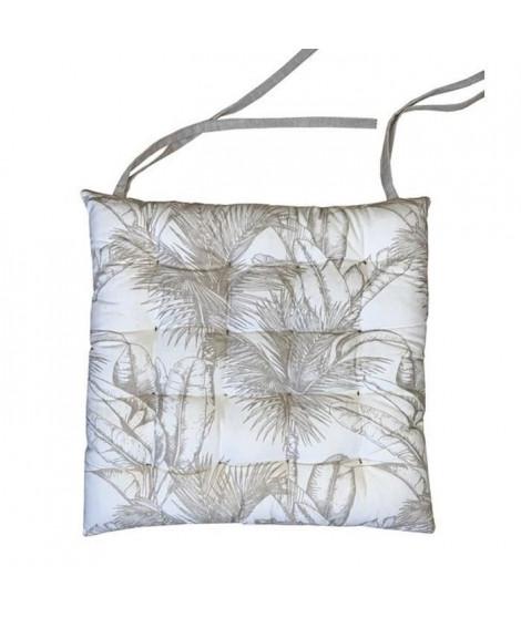 Galette de chaise Banana - Coton - 40 x 40 x 8 cm - Gris