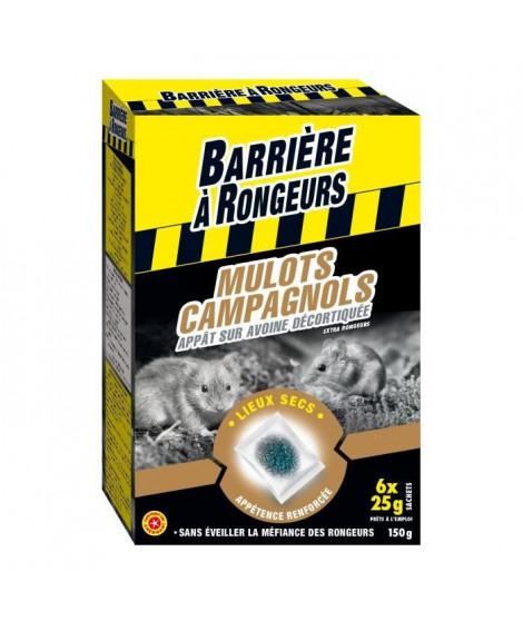 BARRIERE A RONGEURS Mulots - Campagnols - Appât sur avoine décortiquée - 150 g