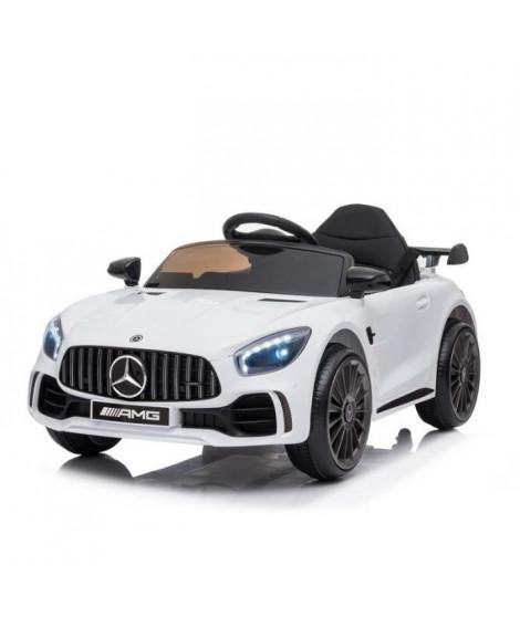 Mercedes GT-R AMG Blanc 12V Roues gomme + Télécommande