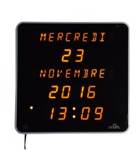 EPHEMERIS Horloge calendrier grands caracteres DST 28 cm blanc