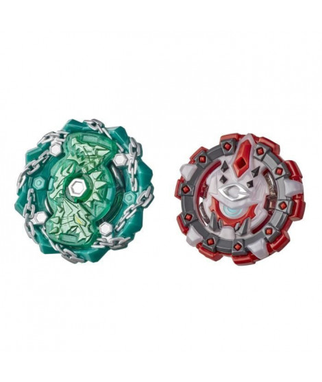 Beyblade Burst Rise - Pack Duel Hypersphere Toupies Shield Kerbeus et Behemoth Cyclops
