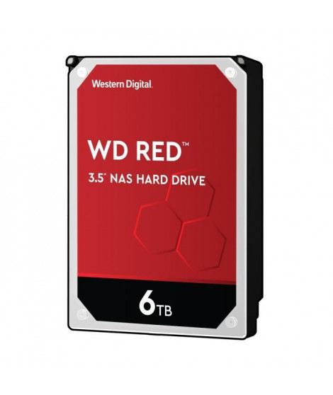 WD Red™ - Disque dur Interne NAS - 6To - 5 400 tr/min - 3.5 (WD60EFRX)