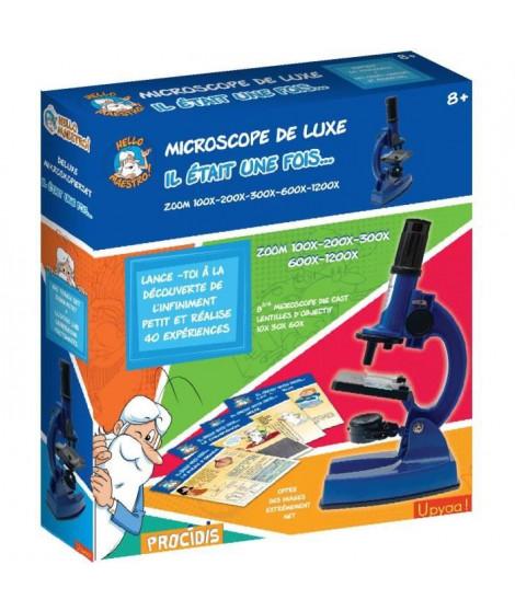 HELLO MAESTRO IL ÉTAIT UNE FOIS 430350 - Microscope Zoom 100 a 1200 - 66 accessoires + 40 Expériences