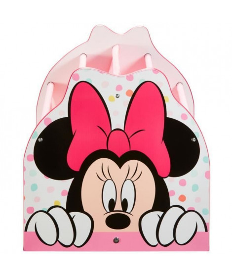 Disney Minnie Mouse - Bibliotheque a pochettes pour enfants - Rangement de livres pour chambre d'enfant