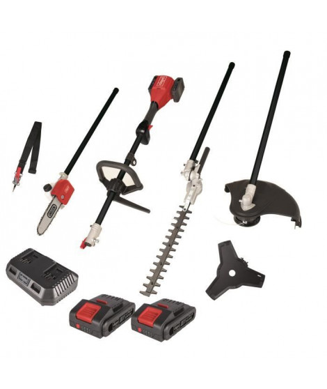 SCHEPPACH Débroussailleuse 4 en 1 sans fil MFB4-40Li - 40V 2x20V Batteries et chargeur inclus