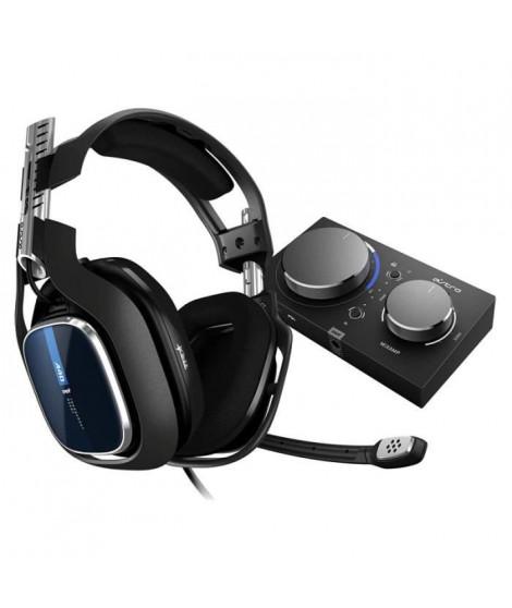 ASTRO Casque de Gaming A40 TR + MixAmp Pro 939-001661 jack 3,5 mm, USB filaire circum-aural - Noir et bleu