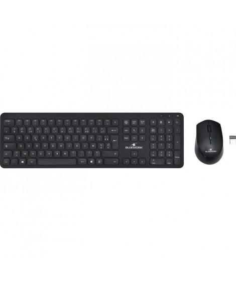 Pack clavier souris sans fil Noir SLIM