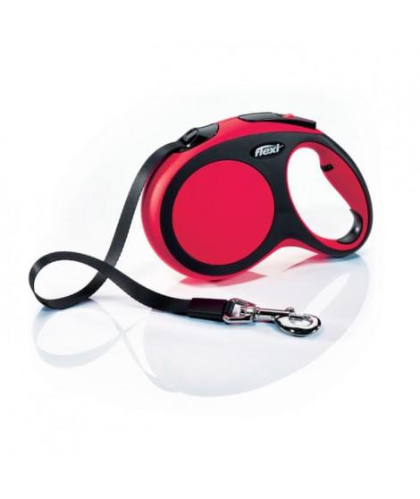 KERBL Laisse-corde Flexi New Confort L - Longueur : 8 m - Poids max : 50 kg - Rouge - Pour chien