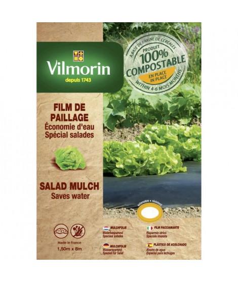 VILMORIN Film paillage salades en farine de céréales - Epaisseur 20 µm - 1,50 x 8 m