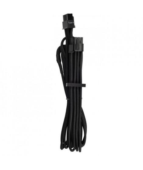 CORSAIR Câbles PCIe Premium (connecteur simple) a gainage individuel-2A Noirs - (CP-8920243)