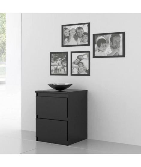 FINLANDEK Chevet NATTI contemporain noir mat - L 42 cm
