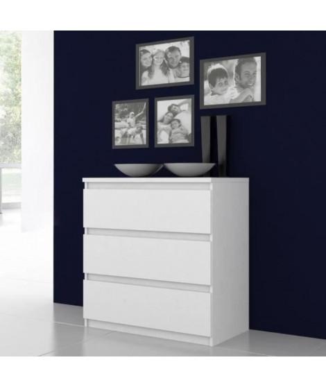 FINLANDEK Commode de chambre NATTI style contemporain blanc mat - L 77,2 cm