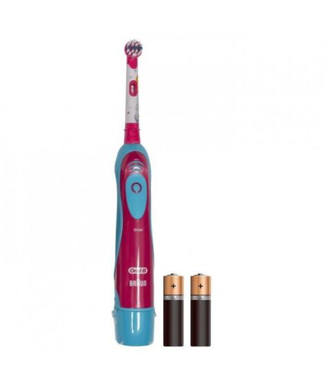 ORAL-B - 80300266 - Brosse a Dents a Piles pour Enfant Cars ou Princesses de Disney