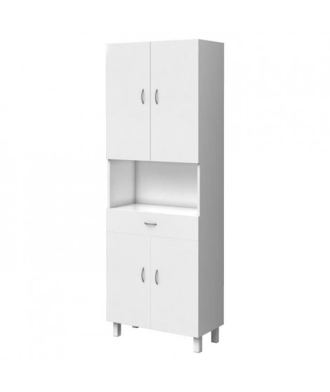 ESSENTIEL - Colonne de salle de bain 4 portes - Blanc L 65 cm
