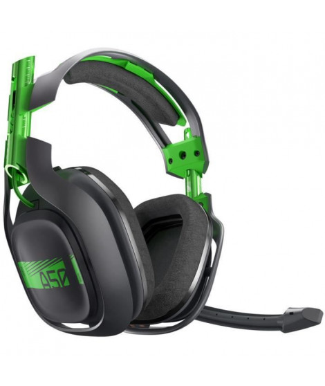 ASTRO Casque Gaming A50 + Base Gris et Vert - Compatible Xbox