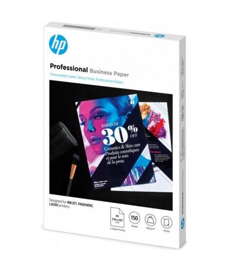 Papier HP professionnel pour imprimantes laser, ou jet d'encre - A4, glacé, 180g/m² (3VK91A)