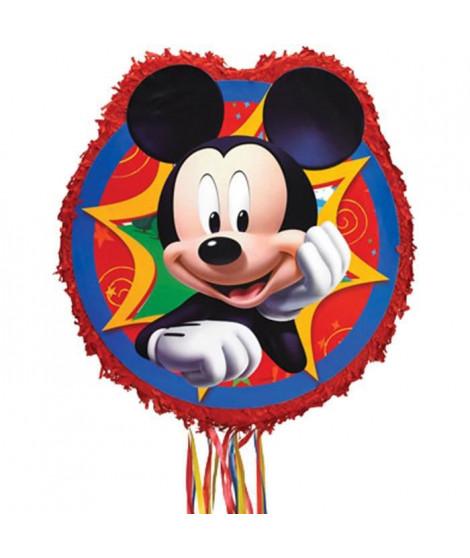 Pinata a ficelles Mickey Mouse en papier et plastique - 45 x 46,9 x 7,6 cm - P34106