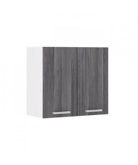 ULTRA Meuble haut de cuisine L 60 cm - Décor chene gris mat