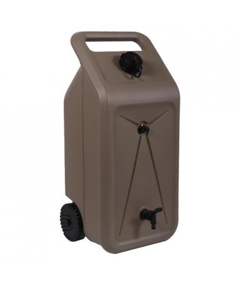 EDA Citerne d'eau Nomade sur roues avec sortie pour tuyau d'arrosage - 55 L