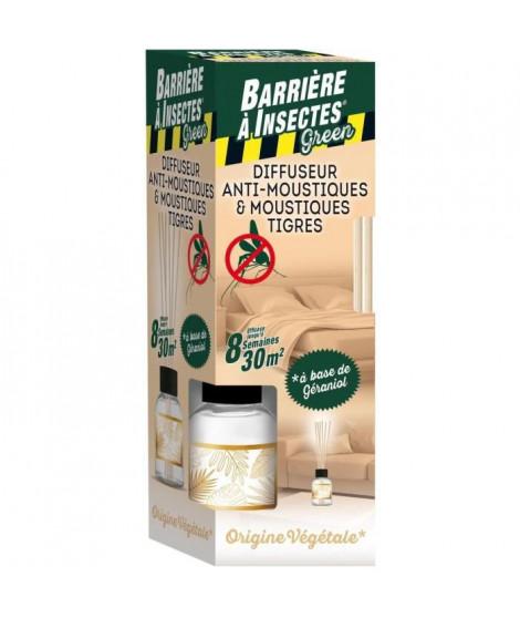 BARRIERE A INSECTES Diffuseur bâtonnets antimoustiques 80 ml + 6 Bâtonnets