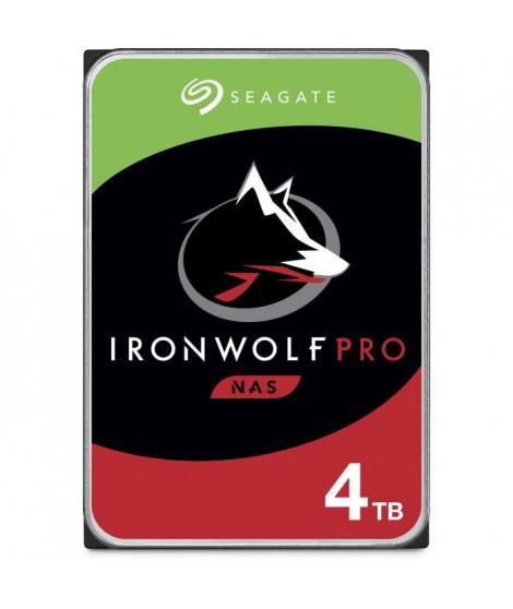 SEAGATE Disque dur IronWolf Pro ST4000NE001 - 3.5 Interne - 4 To - SATA (SATA/600) - 7200trs/mn - Buffer 128 Mo