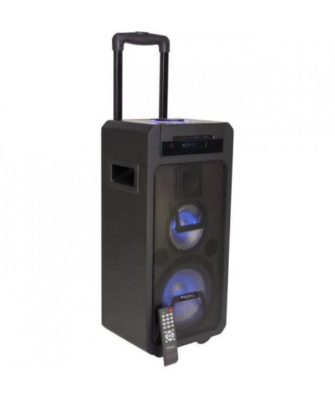 IBIZA SOUND 10-7132 Systeme de sonorisation portable autonome - 350 W - 3 voies - Lecteur CD, USB, Bluetooth & télécommande