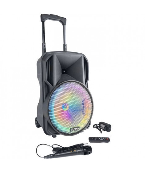 PARTY LIGHT & SOUND PARTY-10RGB Enceinte Portable 10''/25Cm Avec USB - Micro Sd - Bluetooth - Fm - Micro & Telecommande