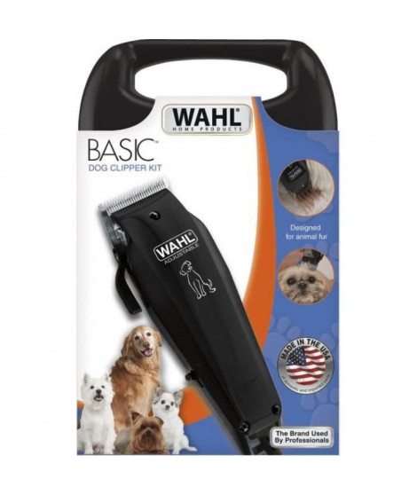 WAHL Tondeuse animal Basic Clipper 09160-2016 - Tondeuse filaire Made in USA - Moteur silencieux