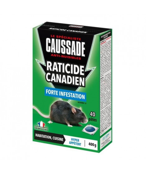 CAUSSADE CARPT400 Souris & Rats - Pat 'appât Forte Infestation - 150 g Cau