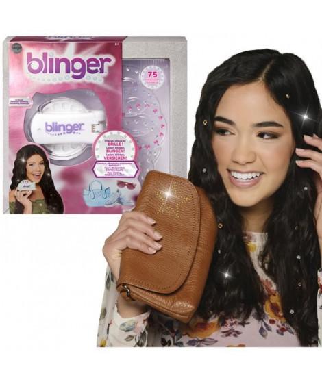 BANDAI Blinger - Machine a coller des strass sur cheveux, vetements ou accessoires - 75 brillants inclus - Modele aléatoire