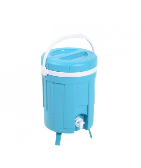 EDA PLASTIQUE Fontaine isotherme Iceberg - Coque isolante thermoformée - Bleu turquoise - 8 L