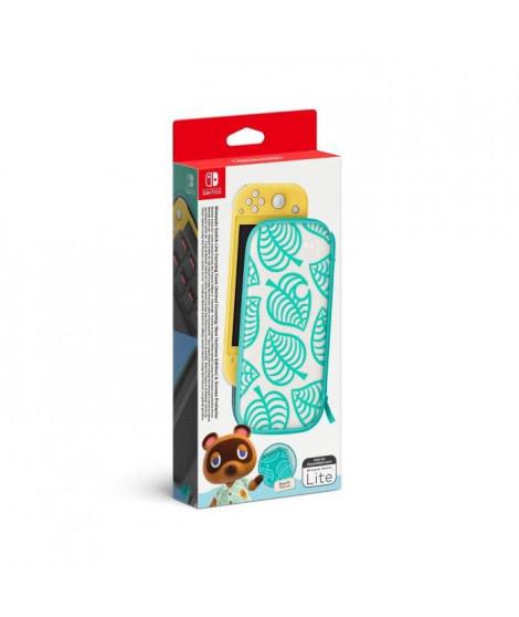 Pochette de transport Edition Animal Crossing : New Horizons et protection d'écran Nintendo Switch Lite