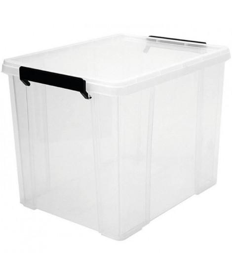 IRIS OHYAMA Boîte de rangement empilable avec couvercle - Multi Box - MBX-38 - Transparent - 38 L - 34,8 x 45,3 x 34,3 cm