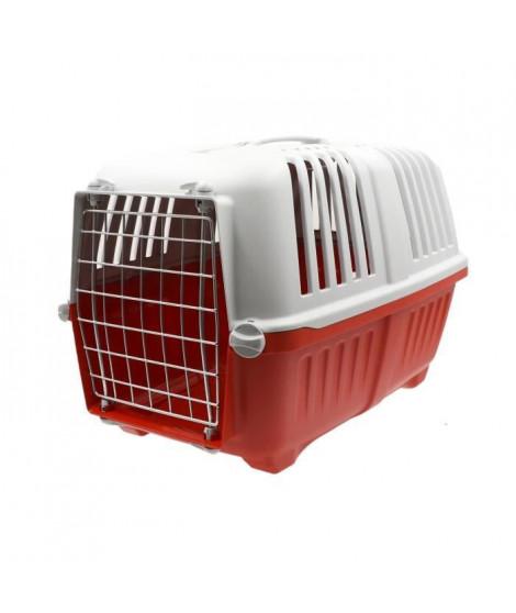 AIME Caisse de transport Pratiko pour chien et chat - 48 x 31 x 32 cm - Rouge